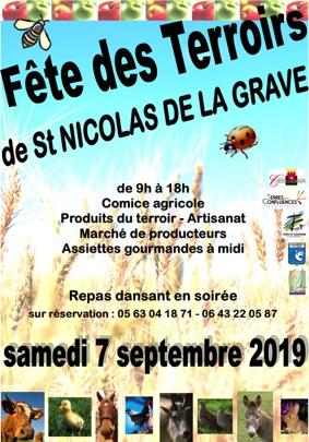 FÊTE DES TERROIRS #Saint-Nicolas-de-la-Grave @ Centre village
