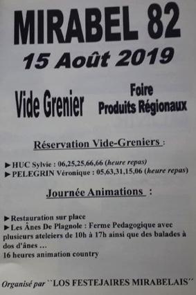 FOIRE PRODUITS RÉGIONAUX, VIDE GRENIER #Mirabel @ Place de l'Eglise