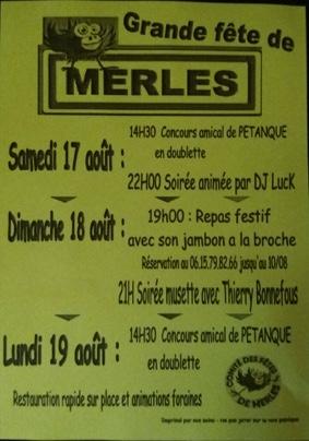 GRANDE FÊTES DE MERLES #Merles @ Village