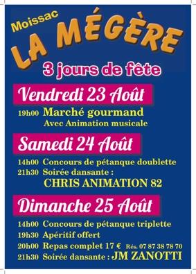 MARCHE GOURMAND ET FETE DE LA MEGERE #Moissac @ Ecole de la Mégère