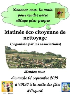 NETTOYAGE NATURE #Orgueil @ Salle des fêtes