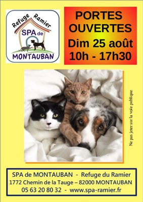 PORTES OUVERTES À LA SPA DE MONTAUBAN #Montauban @ Refuge SPA du Ramier
