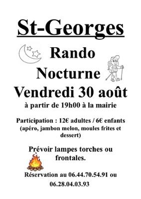 RANDONNÉE NOCTURNE #Saint-Georges @ rendez-vous devant la Mairie