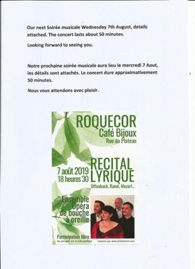 RÉCITAL LYRIQUE #Roquecor @ Café Bijoux