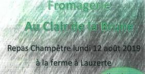 REPAS CHAMPÊTRE À LA FERME #Lauzerte @ Fromagerie au clair de la brune