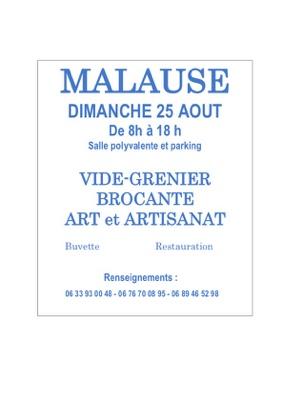 VIDE-GRENIER BROCANTE ART ET ARTISANAT #Malause @ Salle Polyvalente
