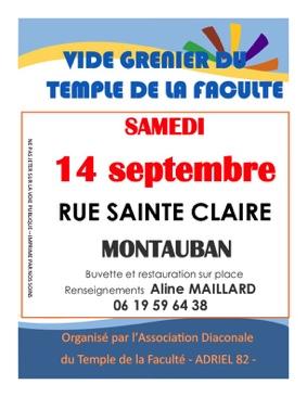 VIDE-GRENIER DU TEMPLE #Montauban @ Temple de la Faculté
