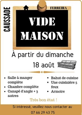 VIDE MAISON #Caussade @ Maison