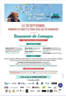 VIRADE DE L'ESPOIR #Beaumont-de-Lomagne @ Camping le Lomagnol