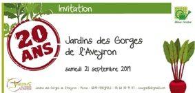 20 ANS DES JARDINS DES GORGES DE L'AVEYRON #Féneyrols @ Jardins des Gorges de l'Aveyron