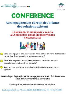 ACCOMPAGNEMENT ET RÉPIT DES AIDANTS DES SOLUTIONS EXISTENT #Nègrepelisse @ LES ESSENTIELLES