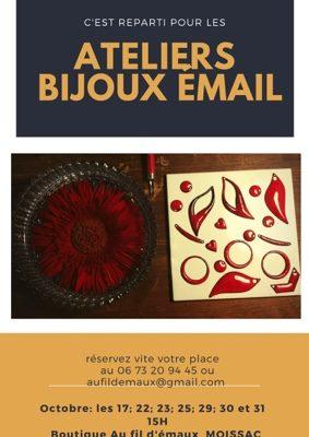 ATELIER BIJOU EN ÉMAIL #Moissac @ Boutique Au fil d'émaux