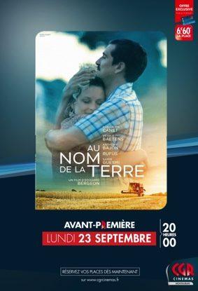 AU NOM DE LA TERRE - EN AVANT-PREMIÈRE #Montauban @ CGR MONTAUBAN