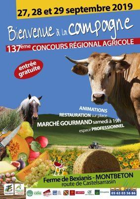BIENVENUE A LA CAMPAGNE : 137ème CONCOURS REGIONAL AGRICOLE #Montbeton @ BEXIANIS