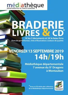 BRADERIE LIVRES ET CD #Montauban @ Médiathèque Départementale de Tarn-et-Garonne