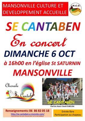 CHORALE SE CANTABEN #Mansonville @ Eglise Saint Saturnin
