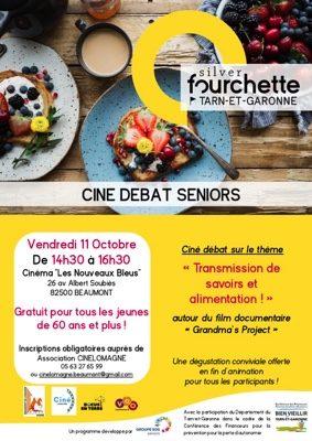 CINÉ-DÉBAT SENIORS SILVER FOURCHETTE #Beaumont-de-Lomagne @ Cinéma Les Nouveaux Bleus
