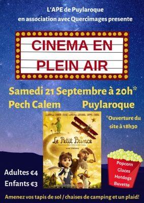 CINEMA EN PLEIN AIR #Puylaroque @ PECH CALEM