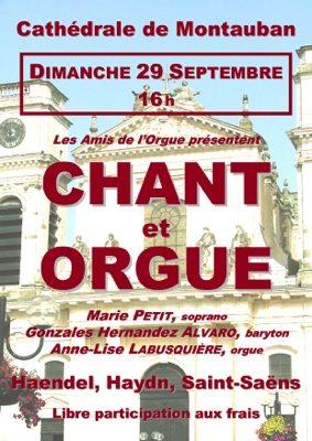 CONCERT CHANT ET ORGUE #Montauban @ Cathédrale