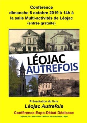 CONFERENCE LEOJAC AUTREFOIS #Léojac @ Salle des fêtes