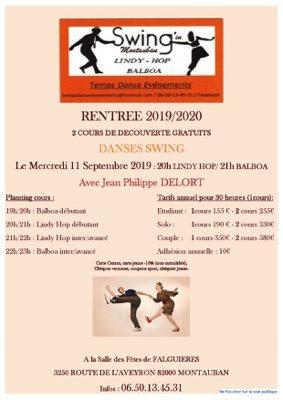 COURS DE LINDY HOP ET DE BALBOA #Montauban @ salle des fêtes de Falguières