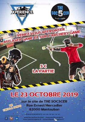 EVENEMENT XPERIENCE GAME #Montauban @ THE SOC5CER