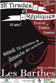 FESTIVAL DE THÉÂTRE AMATEUR #Les Barthes @ salle des Fêtes