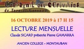 LECTURE MENSUELLE #Montauban @ MAISON DE LA CULTURE