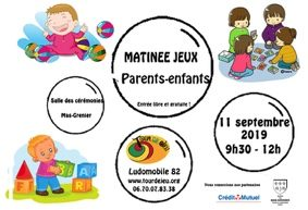 MATINÉE JEUX PARENTS-ENFANTS #Mas-Grenier @ Salle des Cérémonies