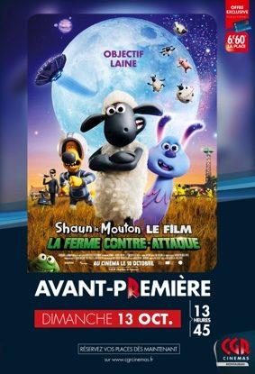 SHAUN LE MOUTON LE FILM : LA FERME CONTRE-ATTAQUE EN AVANT-PREMIÈRE #Montauban @ CGR MONTAUBAN