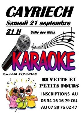 SOIREE KARAOKE #Cayriech @ Salle des Fêtes