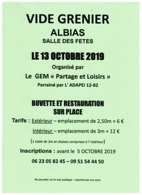 VIDE GRENIER #Albias @ Salle des Fêtes