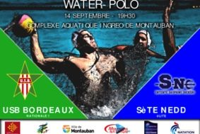 WATER-POLO USB BORDEAUX/SÈTE NEDD #Montauban @ Complexe aquatique INGREO
