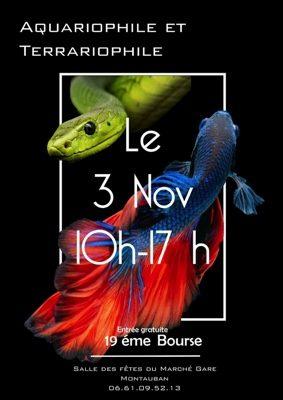 19ème BOURSE AQUA-TERRARIOPHILE #Montauban @ Salle des fêtes du Marché Gare
