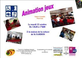 APRÈS-MIDI LIEN PAR LE JEU POUR LES SÉNIORS #Saint-Sardos @ Maison de la culture