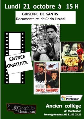 ASPECTS  DU  CINEMA  ITALIEN GIUSEPPE  DE  SANTIS #Montauban @ Ancien Collège