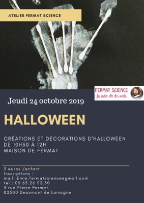 ATELIER HALLOWEEN #Beaumont-de-Lomagne @ Maison natale de Pierre Fermat