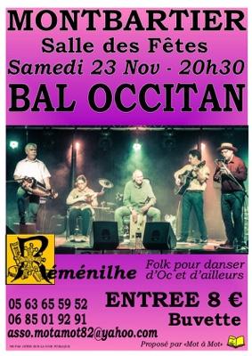 BAL OCCITAN AVEC RÉMÉNILHE #Montbartier @ Salle des Fêtes