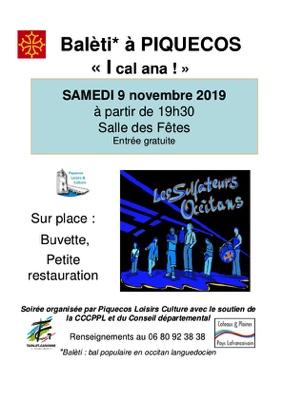 BALETI À PIQUECOS #Piquecos @ Salle des Fêtes