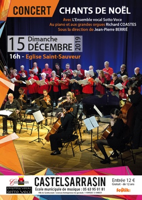 CHANTS DE NOËL #Castelsarrasin @ Eglise Saint-Sauveur