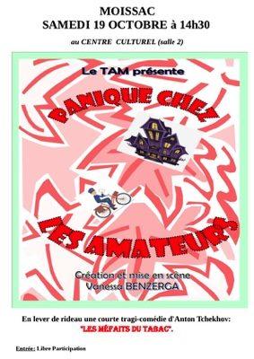 """COMÉDIE: """"PANIQUE CHEZ LES AMATEURS"""" #Moissac @ Centre Culturel"""