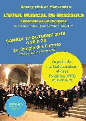"""CONCERT DE LA CHORALE """"L'EVEIL MUSICAL DE BRESSOLS"""" #Montauban @ Temple des Carmes"""