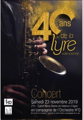 CONCERT DU 40ème ANNIVERSAIRE DE LA LYRE VALENCIENNE #Valence d'Agen @ Eglise Notre Dame