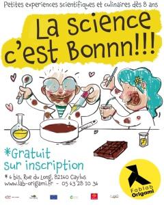 FÊTE DE LA SCIENCE : LA SCIENCE C'EST BONNNN #Caylus @ Fablab Origami