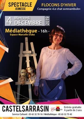 FLOCONS D'HIVER #Castelsarrasin @ Espace Marcelle Duba Médiathèque Municipale