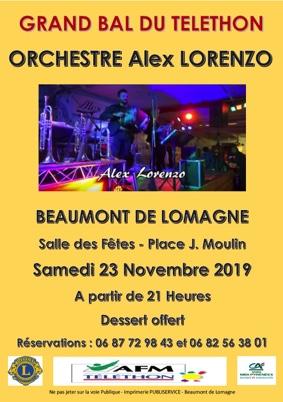 GRAND BAL DU TELETHON #Beaumont-de-Lomagne @ Salle des Fêtes