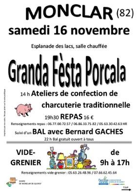 GRANDA FESTA PORCALA ET VIDE GRENIER #Monclar-de-Quercy @ Esplanade du lac