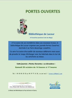 JOURNÉE PORTES OUVERTES #Lacour @ Bibliothèque