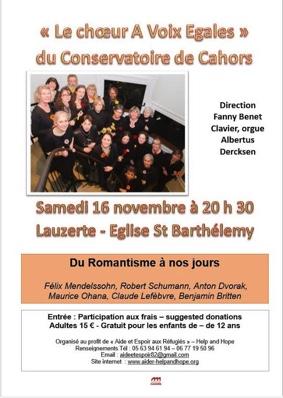 LE CHOEUR A VOIX EGALES #Lauzerte @ Eglise St Barthélémy