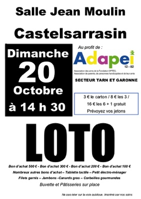 LOTO #Castelsarrasin @ Salle Jean Moulin